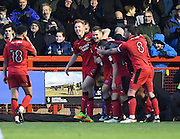 Crawley Town forward James Collins (19) celebrates his goal (1-0) during the EFL Sky Bet League 2 match between Crawley Town and Hartlepool United at the Checkatrade.com Stadium, Crawley, England on 14 January 2017. Photo by David Charbit.