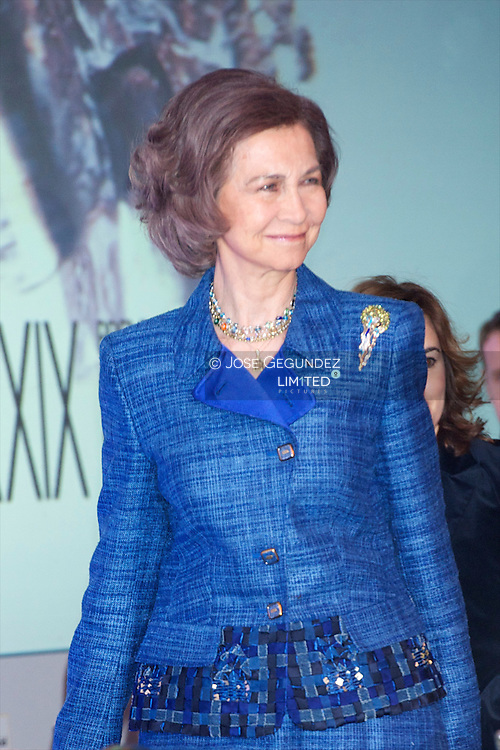Queen Sofia of Spain attends 'Don Quijote' journalism awards at Casa de America in Madrid