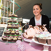 01/09/2017<br /> <br /> Pictured enjoying the Limerick Urban Food Fest, the opening event of the Pigtown Food &amp; Culture Series at the Milk Market, Limerick, is Fionnuala Crowe, owner of Bella's Bakery, from Ennis Road, Limerick.<br /> and Picture: Diarmuid Greene/Alan Place Photography