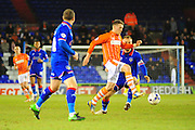 Jim McAlister of Blackpool FC during the Sky Bet League 1 match between Oldham Athletic and Blackpool at SportsDirect.Com Park, Oldham, England on 15 March 2016. Photo by Mike Sheridan.