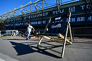 General view outside Home Park Stadium with a giant deck chair before the EFL Sky Bet League 1 match between Plymouth Argyle and Burton Albion at Home Park, Plymouth, England on 20 October 2018.