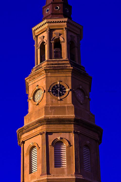 Steeple atop St. Philip's Episcopal Church, Charleston, South Carolina