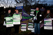 Forest Lodge and Forest Close, Unison members on the TUC Day of Action 30th November, Sheffield .