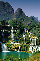 The picturesque Detian Waterfall is located on the China/Vietnam border south of Nanning, Guangxi Province.