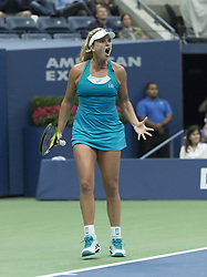 September 6, 2017 - New York, New York, United States - Coco Vandeweghe of USA reacts during match against Karolina Pliskova of Czech Republic at US Open Championships at Billie Jean King National Tennis Center  (Credit Image: © Lev Radin/Pacific Press via ZUMA Wire)