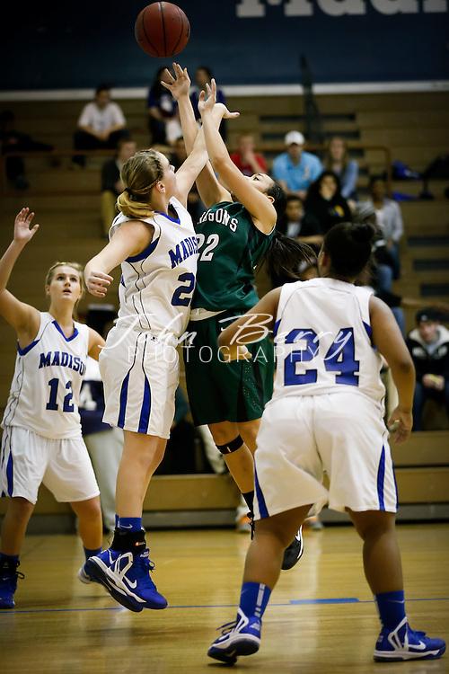 December/19/12:  MCHS Varsity Girl's Basketball vs William Monroe.  Madison wins 38-26.