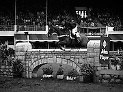 07/08/1980<br /> 08/07/1980<br /> 07 August 1980<br /> R.D.S. Horse Show: John Player International, Ballsbridge, Dublin.  Pamela Dunning, (Great Britain) on &quot;Roscoe X&quot;, who won 2nd place in the competition.