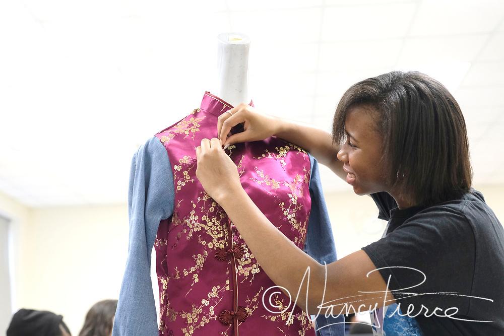 CTE - Fashion Merchandising and Fashion Design classes at North Mecklenburg High School Apparel Production II class at North Mecklenburg High School