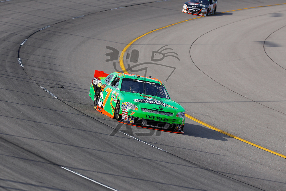 NEWTON, IA - MAY 19, 2012:  Danica Patrick (7) prepares to qualify for the Pioneer Hi-Bred 250 at the Iowa Speedway in Newton, IA.