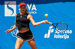 Manca Pislak of team West in action during Day 1 of tennis tournament Mima Jausovec cup where compete best Slovenian tennis players of the East and West, on June 6, 2020 in RCU Lukovica, Slovenia. Photo by Vid Ponikvar / Sportida