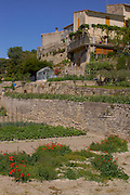 Southern France Gardens, Aubai Medieval Village, Hillside Buildings