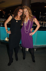 Left to right, NATASHA CORRETT and her mother interior designer KELLY HOPPEN at a party to launch Three's A Crowd held at the Mayfair Hotel, Berkley Street, London on 5th December 2006.<br />