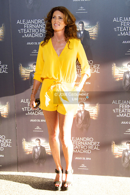 Veronica Mengod attends Alejandro Fernandez show at Teatro Real on July 23, 2014 in Madrid