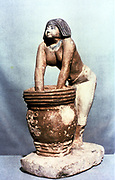 Woman brewing beer. Ancient Egyptian tomb model. Cairo Museum, Egypt