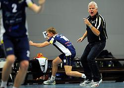 10-12-2011 VOLLEYBAL: ZAANSTAD - ABIANT LYCURGUS: ZAANSTAD<br /> Lycurgus wint vrij moeizaam met 3-2 in Zaanstad / Coach Martin Fennema<br /> ©2011-FotoHoogendoorn.nl