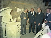 24/08/1984<br /> 08/24/1984<br /> 24 August 1984<br /> Opening of ROSC '84 at the Guinness Store House, Dublin. Mr Pat Murphy ROSC Chairman, (left) Talks with Lord Iveagh; President Patrick Hillery and Mr Ted Nealon.