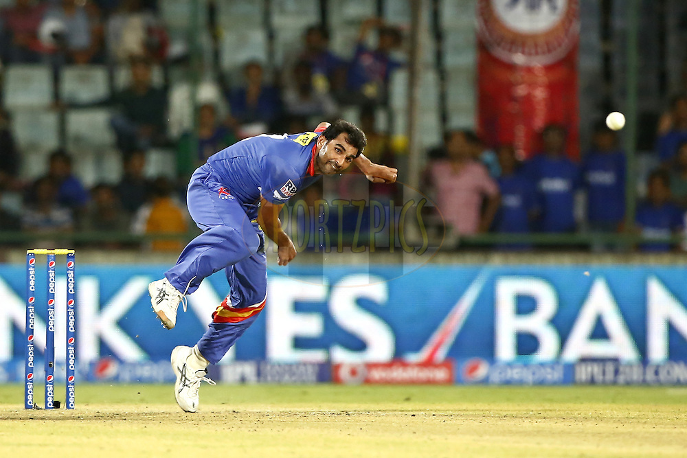 Mohammad Shami of the Delhi Daredevils during match 23 of the Pepsi Indian Premier League Season 2014 between the Delhi Daredevils and the Rajasthan Royals held at the Feroze Shah Kotla cricket stadium, Delhi, India on the 3rd May  2014<br /> <br /> Photo by Deepak Malik / IPL / SPORTZPICS<br /> <br /> <br /> <br /> Image use subject to terms and conditions which can be found here:  http://sportzpics.photoshelter.com/gallery/Pepsi-IPL-Image-terms-and-conditions/G00004VW1IVJ.gB0/C0000TScjhBM6ikg