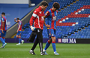 Chun-Tong Lee comes off injured during the Final Third Development League match between U21 Crystal Palace and U21 Bristol City at Selhurst Park, London, England on 3 November 2015. Photo by Michael Hulf.