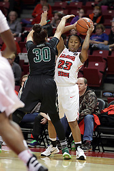 21 December 2015: Jessica Cera(30) guards Viria Livingston(23). Illinois State University Women's Basketball team hosted The Cougars of Chicago State at Redbird Arena in Normal Illinois.