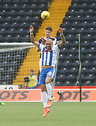Dundee&rsquo;s Darren O&rsquo;Dea outjumps Kilmarnock&rsquo;s Josh Magennis - Kilmarnock v Dundee, Ladbrokes Premiership at Rugby Park<br /> <br />  - &copy; David Young - www.davidyoungphoto.co.uk - email: davidyoungphoto@gmail.com