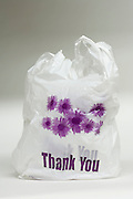 double plastic shopping bags with the text Thank You printed on it