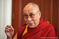 Press conference at the Nobel Institute. Dalai Lama