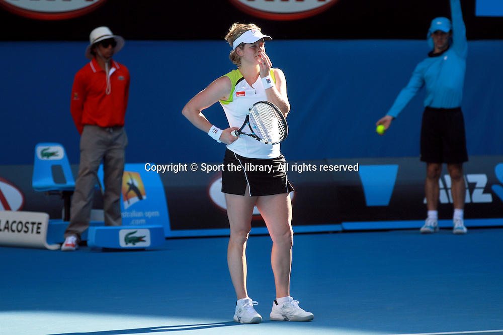 Kim Clijsters (BEL)<br /> 2012 Australian Open Tennis<br /> Melbourne, Victoria<br /> Monday January 16th 2012<br /> &copy; Sport the library / Shannon Morris
