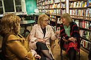 CATHERINE CLINTON; LADY ANTONIA FRASER;  PROF ROSALIND MARSH, William Fitzgerald, Book launch ,  'How to read a Latin poem - if you can't read Latin yet' published by OUP.- Daunts bookshop Marylebone, London 21 February 2013.