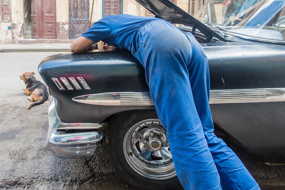 Curbside repair.