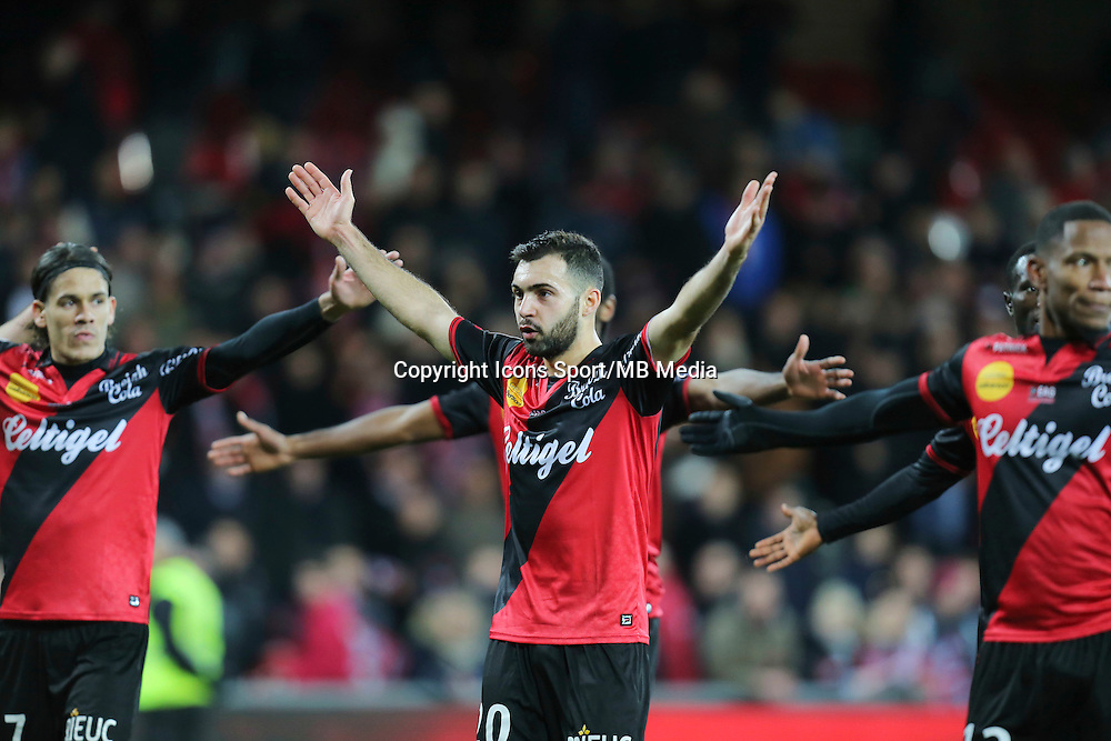 Joie Guingamp - Arnaud DOS SANTOS - 14.12.2014 - Guingamp / Paris Saint Germain - 18eme journee de Ligue 1<br />