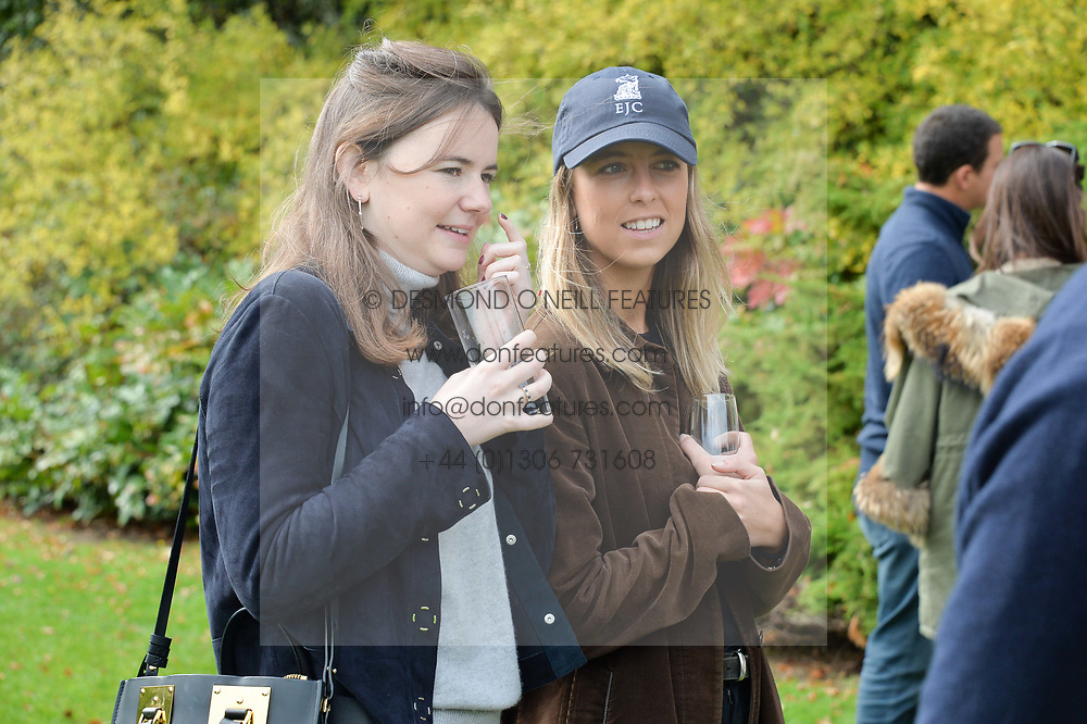 Sapphie Chichester and Lucy Swinton at Young Guns raising money for the fight against breast cancer trough Cancer Research UK held at EJ Churchill Shooting School followed by lunch at West Wycombe Park, England. 23 September 2017.