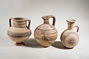 Cypriot terracotta amphora and jugs 9-8th century BCE (private collection)