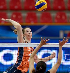 28-09-2014 ITA: World Championship Volleyball Mexico - Nederland, Verona<br /> Nederland wint met 3-0 van Mexico / Carlijn Jans