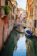 Canal and houses, Venice, Veneto, Italy