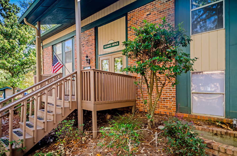 The leasing office welcomes residents to Autumn Woods apartment homes, November 27, 2015, in Mobile, Alabama. The apartment complex, located on Foreman Road, is owned by Sealy Management Company. (Photo by Carmen K. Sisson/Cloudybright)