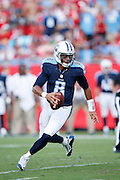 TAMPA, FL - SEPTEMBER 13: Marcus Mariota #8 of the Tennessee Titans looks to pass against the Tampa Bay Buccaneers at Raymond James Stadium on September 13, 2015 in Tampa, Florida. The Titans defeated the Bucs 42-14. (Photo by Joe Robbins)