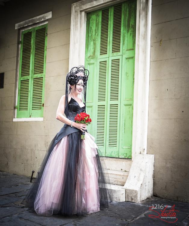 James and Rachael | New Orleans Wedding Ceremony - Day of the Dead - French Quarter 2013 | DÌa de Muertos - 1216 STUDIO Wedding Photographers