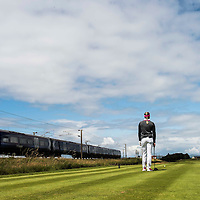 Picture by Christian Cooksey/CookseyPix.com . Standard repro rates apply. <br /> <br /> Aberdeen Asset Management Ladies Scottish Open at Dundonald Links, Irvine Ayrshire. <br /> <br /> Norway's Suzann Pettersen waits for a train to go by before taking her tee shot on the 13th.