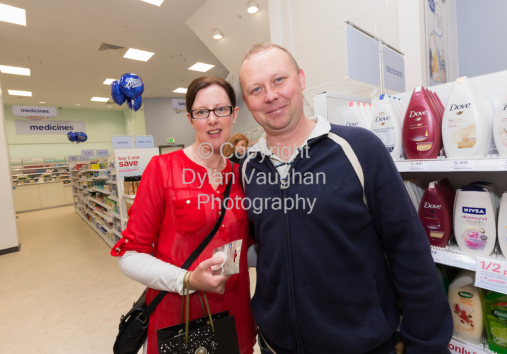 Repro free No Charge for Repro<br /> 1-10-14<br /> <br />  <br /> Pictured at the official opening of the new Boots store at Mac Donagh Junction Shopping Centre in Kilkenny on the 1st of October was Liam and May McGee from Freshford Co. Kilkenny.<br /> <br /> <br /> <br /> <br /> Picture Dylan Vaughan