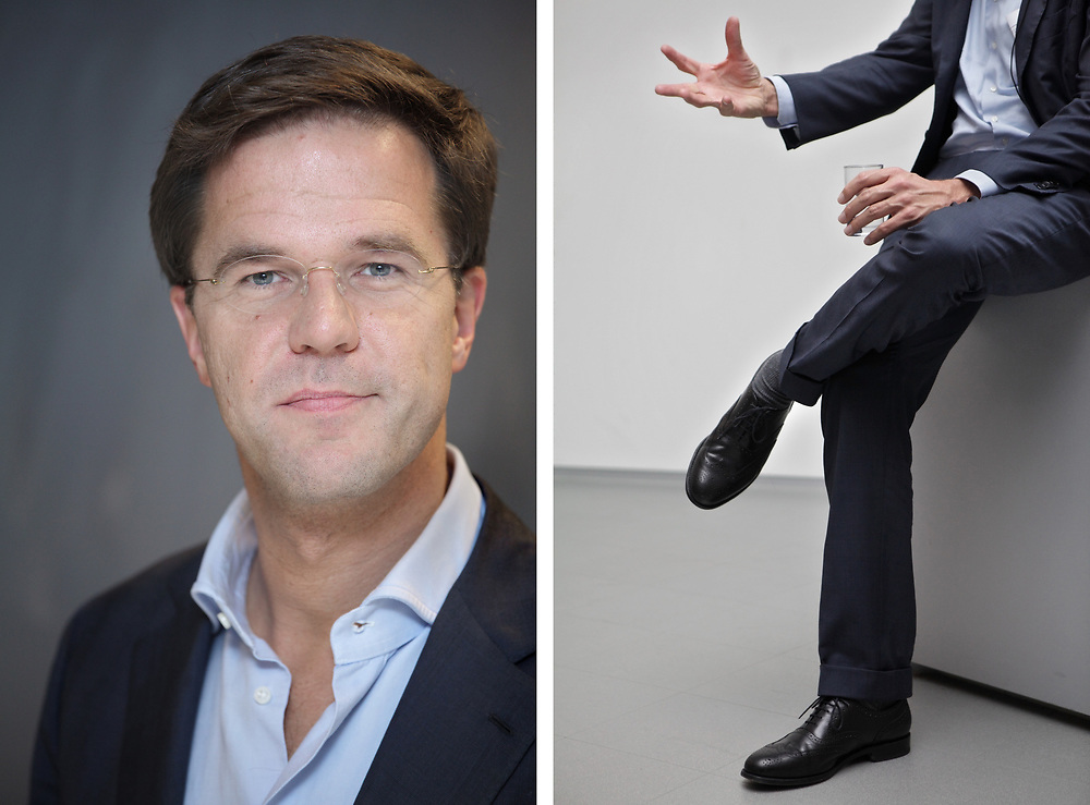 Mark Rutte (Liberal Party), prime minister of The Netherlands // Mark Rutte (VVD), premier van Nederland.