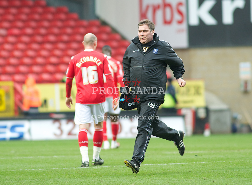 LONDON, ENGLAND - Saturday, March 5, 2011: Tranmere Rovers' Physio George Cain during the Football League One match at The Valley. (Photo by Gareth Davies/Propaganda)