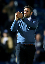 Bristol City head coach Lee Johnson  applauds the fans after the win at Wycombe Wanderers in the EFL Cup - Mandatory by-line: Robbie Stephenson/JMP - 09/08/2016 - FOOTBALL - Adams Park - High Wycombe, England - Wycombe Wanderers v Bristol City - EFL League Cup
