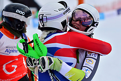 PERRINE Melissa Guide: KELLY Bobbi, B2, AUS, GALLAGHER Kelly Guide: SMITH Gary, B3, GBR, Women's Slalom at the WPAS_2019 Alpine Skiing World Championships, Kranjska Gora, Slovenia