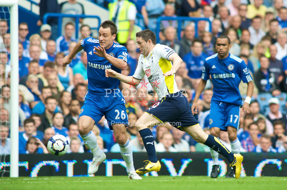 LONDON, ENGLAND - Sunday, September 20, 2009: Chelsea's John Terry and Tottenham Hotspur's Robbie Keane in action during the Premiership match at Stamford Bridge. (Pic by Gareth Davies/Propaganda)