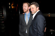 TOM GOODMAN-HILL;  ANTHONY CALF party after the Press Night of 'Death And The Maiden'  ( which opened at the Harold Pinter Theatre.) Mint Leaf Restaurant & bar. Haymarket. London. 24 October 2011. <br /> <br />  , -DO NOT ARCHIVE-© Copyright Photograph by Dafydd Jones. 248 Clapham Rd. London SW9 0PZ. Tel 0207 820 0771. www.dafjones.com.