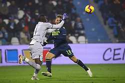 "Foto /Filippo Rubin<br /> 26/12/2018 Ferrara (Italia)<br /> Sport Calcio<br /> Spal - Udinese - Campionato di calcio Serie A 2018/2019 - Stadio ""Paolo Mazza""<br /> Nella foto: JENS STRYGER LARSEN (UDINESE) VS ALFRED GOMIS (SPAL)<br /> <br /> Photo /Filippo Rubin<br /> December 26, 2018 Ferrara (Italy)<br /> Sport Soccer<br /> Spal vs Udinese - Italian Football Championship League A 2018/2019 - ""Paolo Mazza"" Stadium <br /> In the pic: ENS STRYGER LARSEN (UDINESE) VS ALFRED GOMIS (SPAL)"