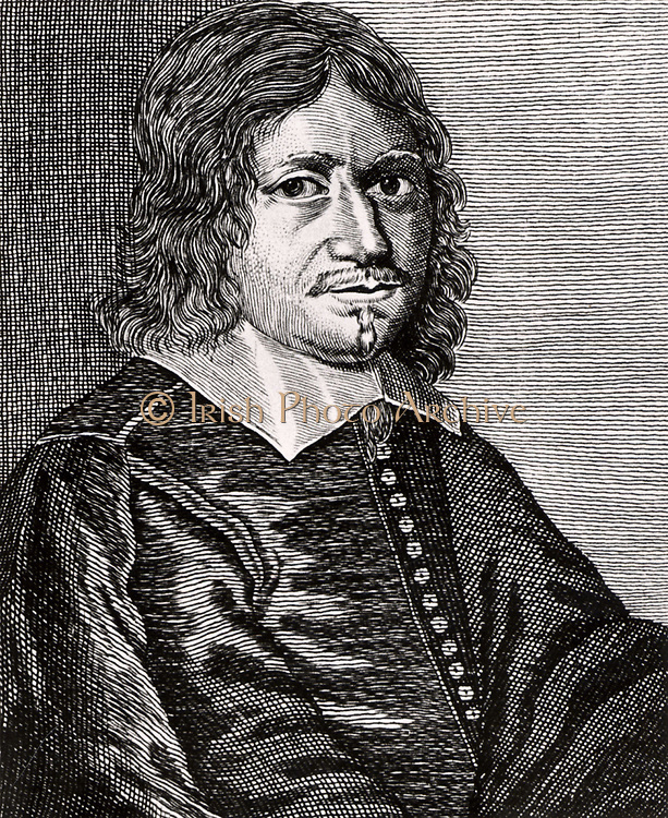 Johannes Borgesius (1618-1652), Dutch mathematician, astronomer and teacher.   Engraving from From 'Icones Virorum' by Friedrich Roth-Scholtz (Nuremberg, 1725).
