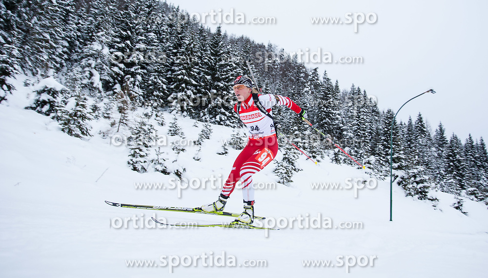 07.12.2012, Biathlonarena, Hochfilzen, AUT, E.ON IBU Weltcup, Sprint, Damen, im Bild Iris Schwabl (AUT) // Iris Schwabl of Austria  // during #Womens sprint of E.ON IBU Biathlon World Cup at the Biathlonstadium in Hochfilzen, Austria on 2012/12/07. EXPA Pictures © 2012, PhotoCredit: .EXPA/ Juergen Feichter