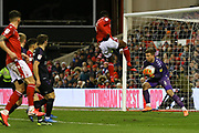 Charlton Athletic goalkeeper Dillion Phillips collects the ball during the EFL Sky Bet Championship match between Nottingham Forest and Charlton Athletic at the City Ground, Nottingham, England on 11 February 2020.