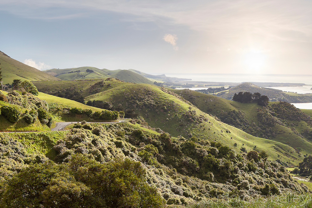 Highcliff road on the Otago Peninsula